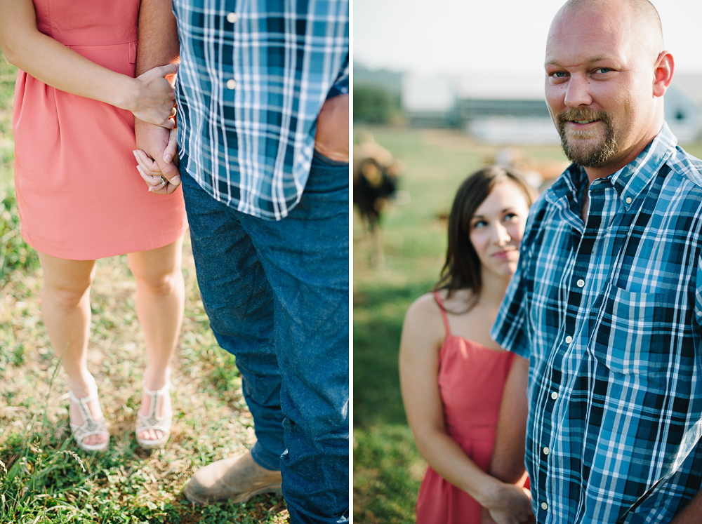 iry farm engagement session
